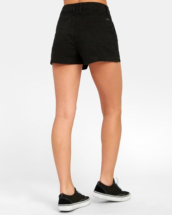 4 NO LONGER HIGH RISE SHORT Black W2021RNL RVCA