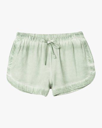 6 NEW YUME ELASTIC SHORT Green W202PRNY RVCA