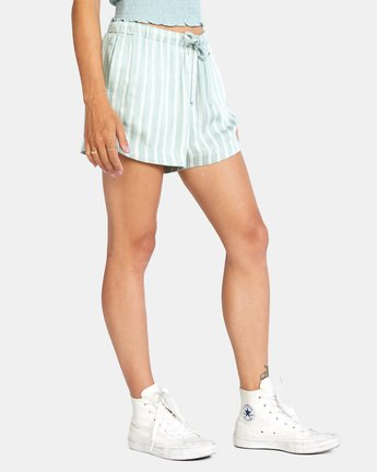 5 NEW YUME ELASTIC SHORT Blue W202PRNY RVCA