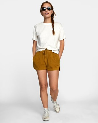 2 NEW YUME ELASTIC SHORT Brown W202PRNY RVCA