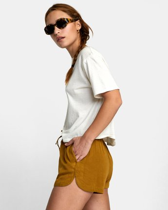 1 NEW YUME ELASTIC SHORT Brown W202PRNY RVCA