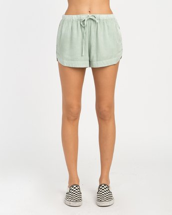 1 NEW YUME ELASTIC SHORT Green W202PRNY RVCA