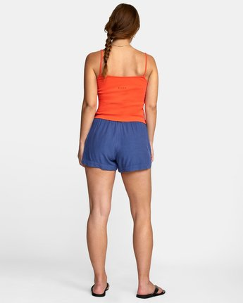 3 NEW YUME ELASTIC SHORT Blue W202PRNY RVCA