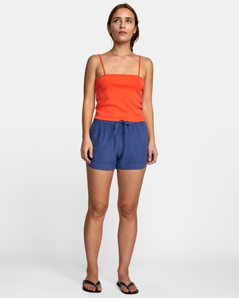 0 NEW YUME ELASTIC SHORT Blue W202PRNY RVCA