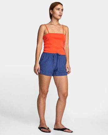 7 NEW YUME ELASTIC SHORT Blue W202PRNY RVCA