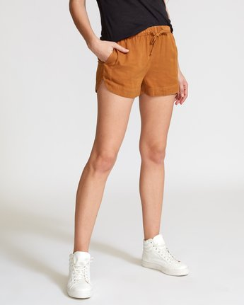 3 New Yume Elastic Short Brown W202PRNY RVCA