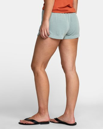 4 NEW YUME ELASTIC SHORT Blue W202PRNY RVCA