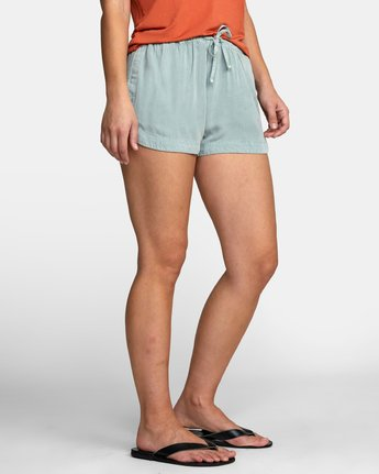 6 NEW YUME ELASTIC SHORT Blue W202PRNY RVCA