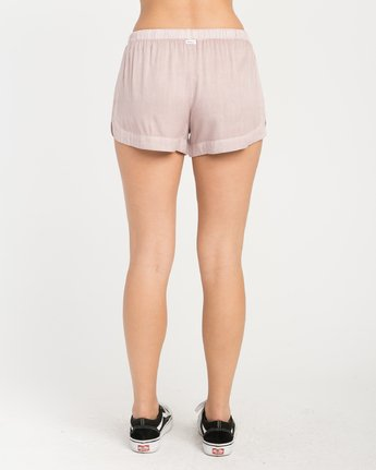 3 NEW YUME ELASTIC SHORT Grey W202PRNY RVCA