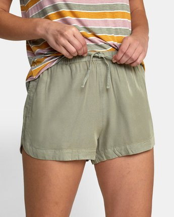 8 NEW YUME ELASTIC SHORT Brown W202PRNY RVCA