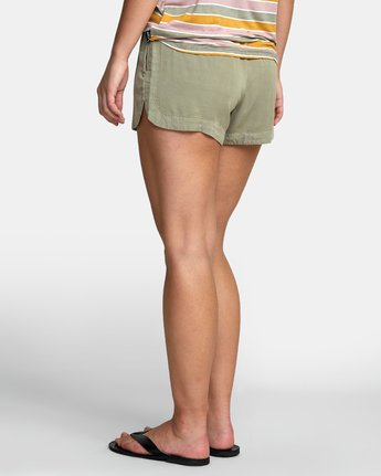 5 NEW YUME ELASTIC SHORT Brown W202PRNY RVCA