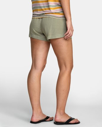 6 NEW YUME ELASTIC SHORT Brown W202PRNY RVCA