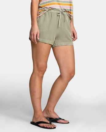 7 NEW YUME ELASTIC SHORT Brown W202PRNY RVCA