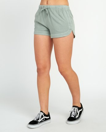 2 New Yume Elastic Short Green W202PRNY RVCA