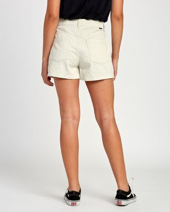 4 Lyric High Rise Corduroy Short Beige W202VRLY RVCA
