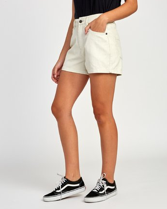 2 Lyric High Rise Corduroy Short Beige W202VRLY RVCA