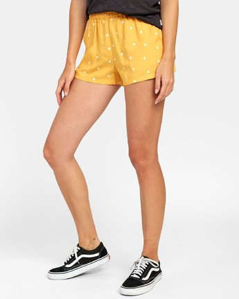 2 SUGGEST DOT PRINT SHORT Yellow W2031RSU RVCA