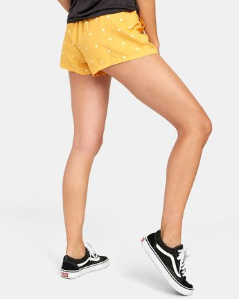4 SUGGEST DOT PRINT SHORT Yellow W2031RSU RVCA