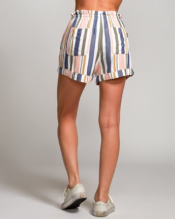 3 Jaywalk Striped Elastic Short Multicolor W204URJA RVCA