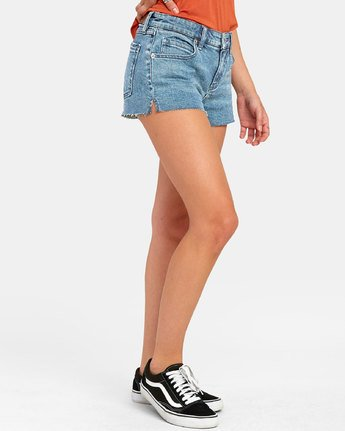3 CUPID 2 DENIM SHORT Blue W2051RCU RVCA