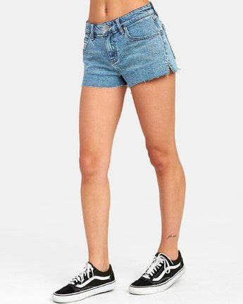 4 CUPID 2 DENIM SHORT Blue W2051RCU RVCA