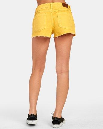 3 CUPID 2 DENIM SHORT Yellow W2051RCU RVCA