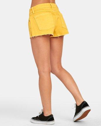 5 CUPID 2 DENIM SHORT Yellow W2051RCU RVCA