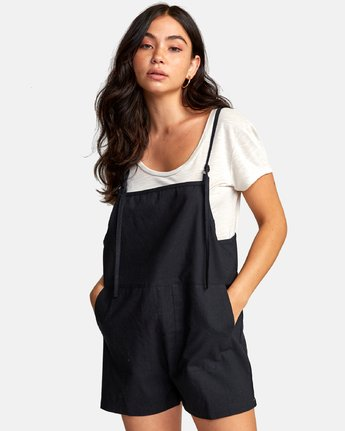 0 KICK IT OVERALL Black W2062RKI RVCA