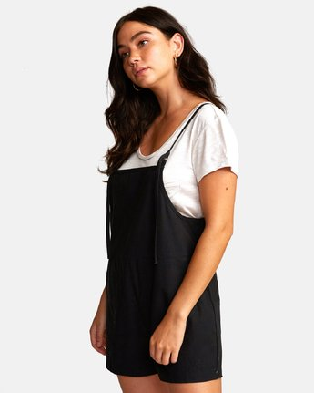 2 KICK IT OVERALL Black W2062RKI RVCA