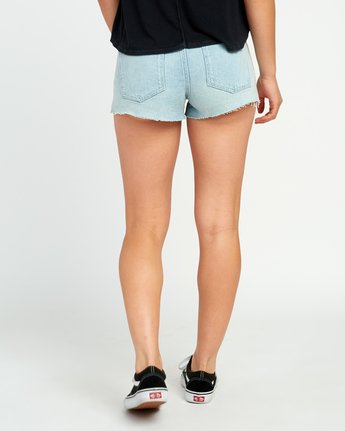 3 Cupid Slit Denim Shorts White W207URCU RVCA