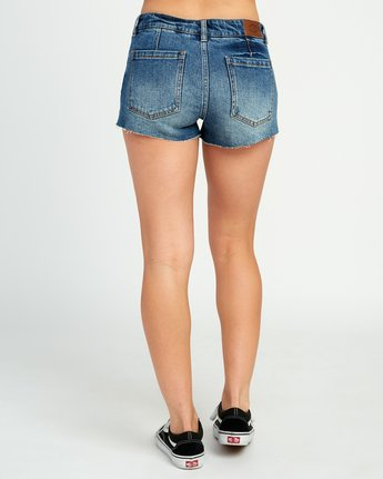 4 Cupid Slit Denim Shorts Black W207URCU RVCA