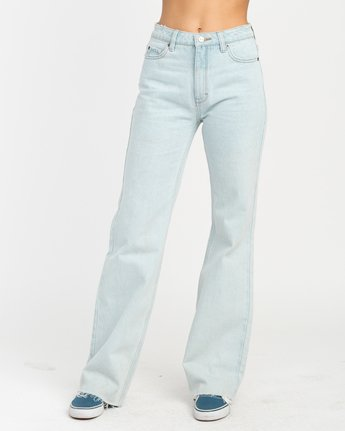 1 Boz Wide Leg Denim Jeans Blue W301NRBO RVCA