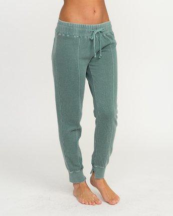 5 Faint Fleece Sweat Pant Green W301QRFA RVCA
