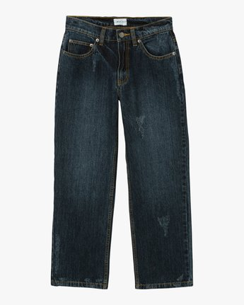 7 Filtered Straight Leg Denim Jean Green W301QRFL RVCA