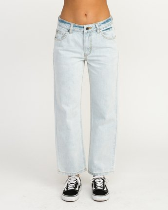1 Filtered Straight Leg Denim Jean White W301QRFL RVCA