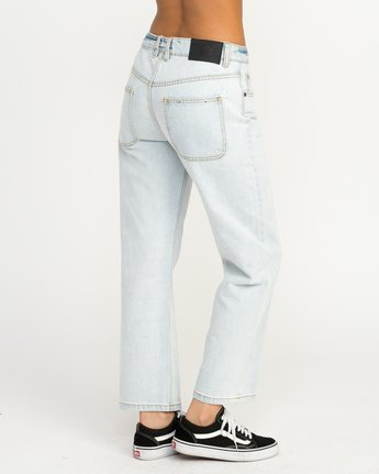 5 Filtered Straight Leg Denim Jean White W301QRFL RVCA