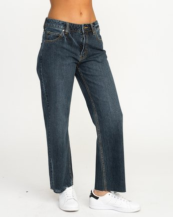 6 Filtered Straight Leg Denim Jean Blue W301QRFL RVCA