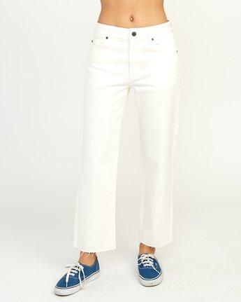 2 Filtered Straight Leg Denim Jean White W301QRFL RVCA