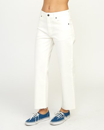 3 Filtered Straight Leg Denim Jean White W301QRFL RVCA
