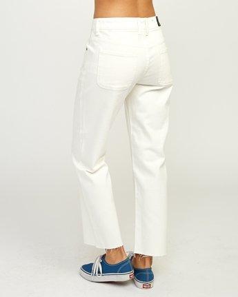 4 Filtered Straight Leg Denim Jean White W301QRFL RVCA