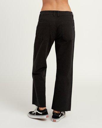 3 RVCA Tripod Wide Leg Pant Black W301QRTR RVCA