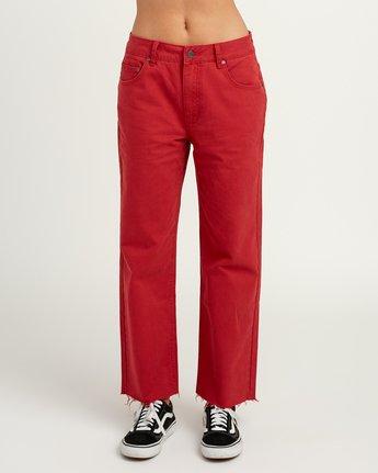 1 RVCA Tripod Wide Leg Pant Red W301QRTR RVCA