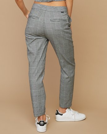 4 Remy Plaid Trousers White W301SRRE RVCA