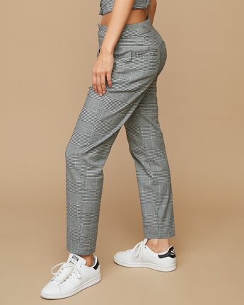 3 Remy Plaid Trousers White W301SRRE RVCA