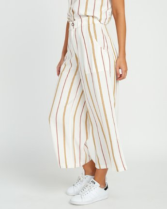 2 Fully Noted Striped Pants White W301URFU RVCA