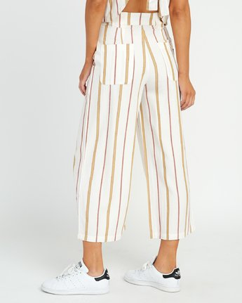 3 Fully Noted Striped Pants White W301URFU RVCA