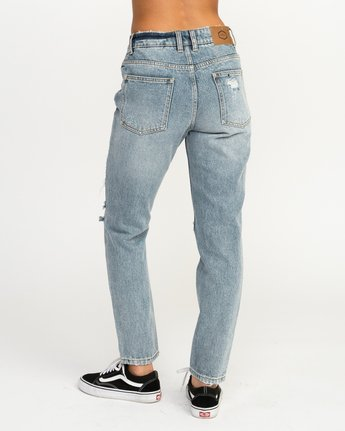 3 Piper High Rise Tapered Denim Jean Blue W302QRPI RVCA