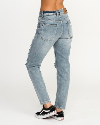 2 Piper High Rise Tapered Denim Jean Blue W302QRPI RVCA