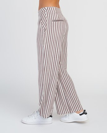 3 Manna Striped High Rise Pants Pink W302SRMA RVCA