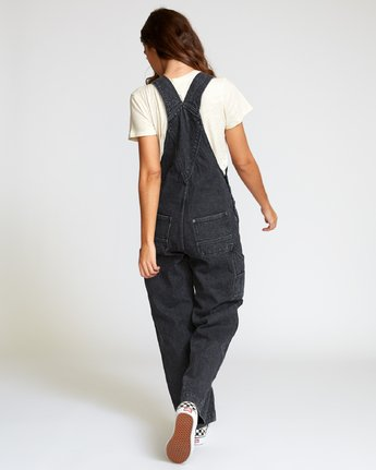 4 Lilo Straight Denim Overalls Black W302VRLI RVCA
